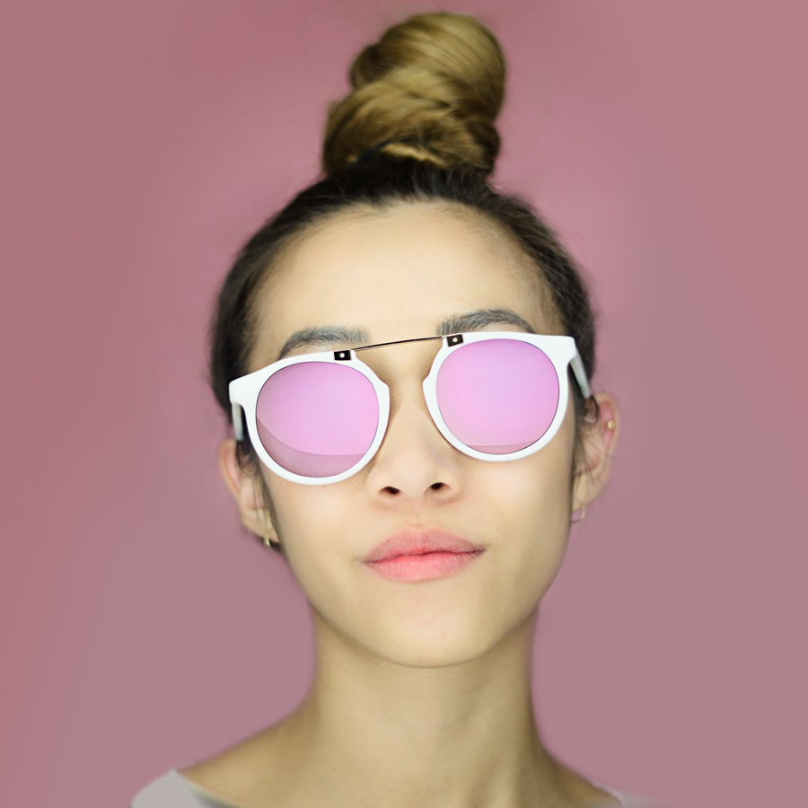 PINK Owl Eyes Sunglasses on Girl